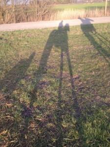 Schattenspiele im Gelände