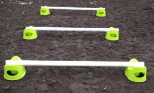 Cavaletti-Training mit Töpfchen von Ikea